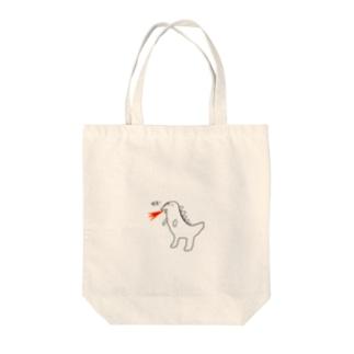 恐竜ガオー Tote bags