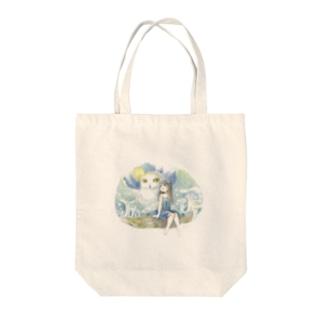 フクロウと妖精【夜】 Tote bags