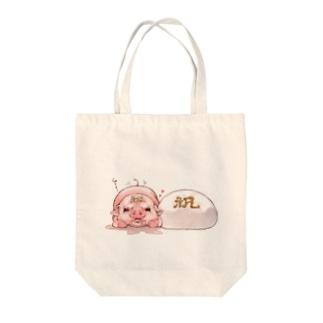 紅白まんじゅう Tote bags