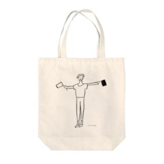 旗boy Tote bags