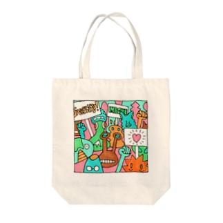 毎日イラストセレクション No.002 Tote bags