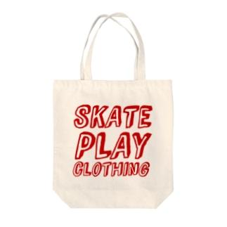SKATE PLAY R Tote bags