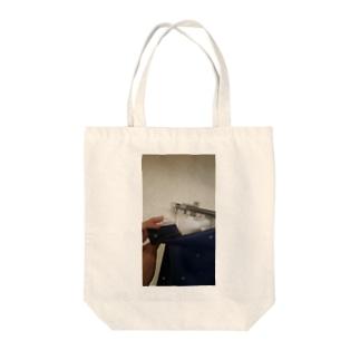 後醍醐天皇の子孫のカーテン、指を添えて Tote bags