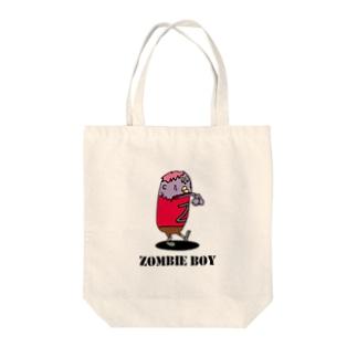 ゾンビ少年 Tote bags