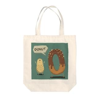 ドナツとピナツ Tote bags