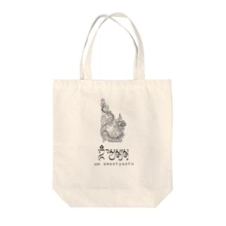 バリ島Omマントラ x 龍神 Tote bags