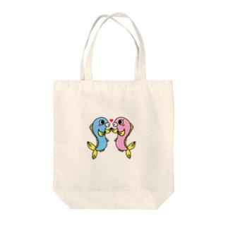 カップルウオ Tote bags