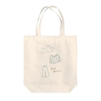 秋と冬のおようふくコレクション Tote bags