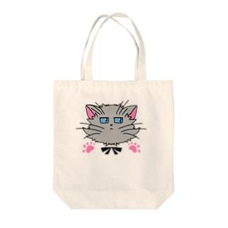 ねこねこうおのクールな灰猫くん Tote bags