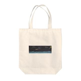 夜空(チョーク) Tote bags