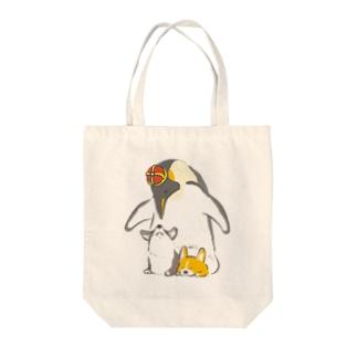 皇帝ペンギンとコーギー Tote bags