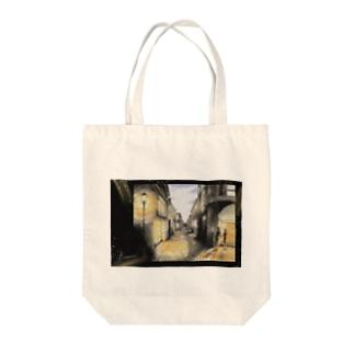 暮れる街角 Tote bags