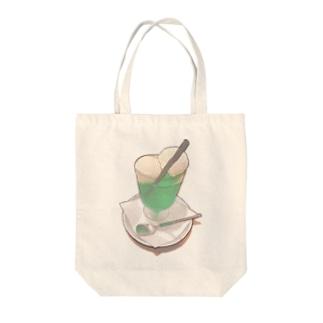 ダブルクリームソーダ Tote bags