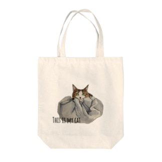 This is my cat. Tote bags
