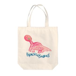 Brachiosaurus Tote bags