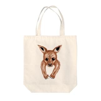 袋の中からカンガルーの赤ちゃん Tote bags