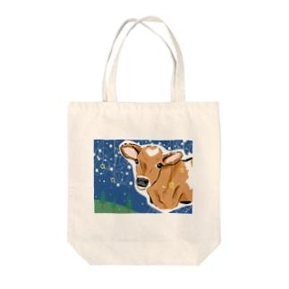 ジャージー牛の夢。 Tote bags