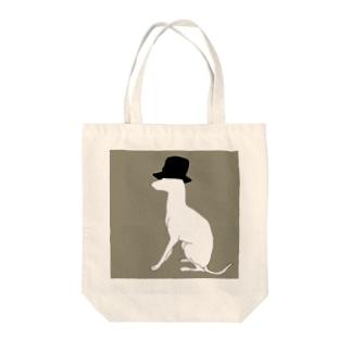 帽グレ(グレー) Tote bags
