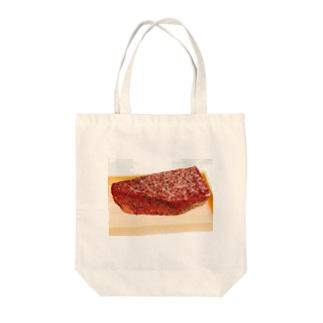 ラブ肉 Tote bags