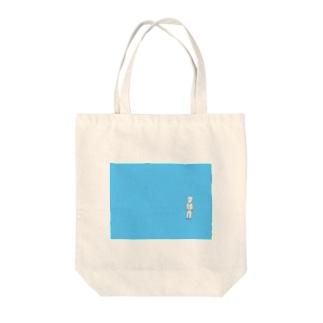 ぽつんと佇むサラリーマン Tote bags