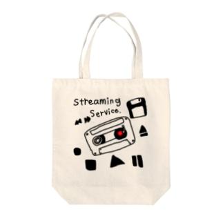 ym303bass オフィシャルショップの音楽ストリーミングサービスグッズ Tote bags