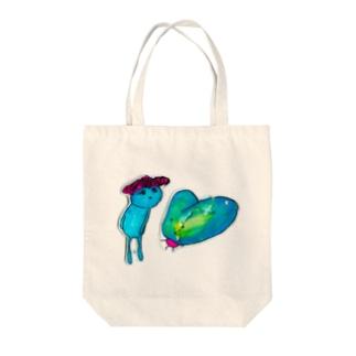 ラヴぃホタル Tote bags