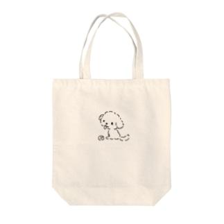 おすわりマルプー Tote bags