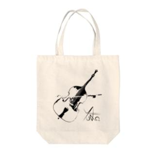 Yu-Ka Contrabass Original Item Tote bags