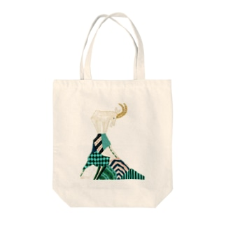 ヤギ Tote bags