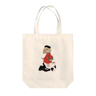 ねこちゃんと少女 Tote bags