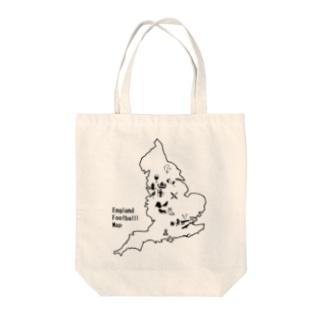 イングランドサッカー地図 Tote bags
