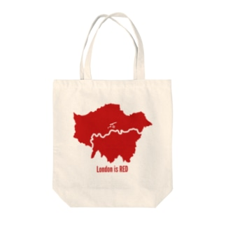 Design UKのLondon is RED Tote bags