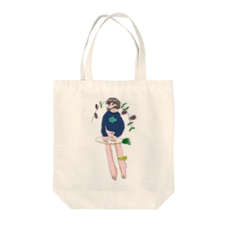 事後野菜ちゃん Tote bags