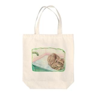 待っている…猫 Tote bags