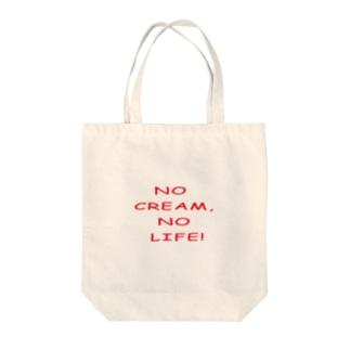 NO CREAM,NO LIFE! Tote bags