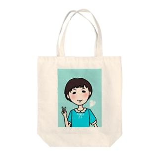 まきろん Tote bags