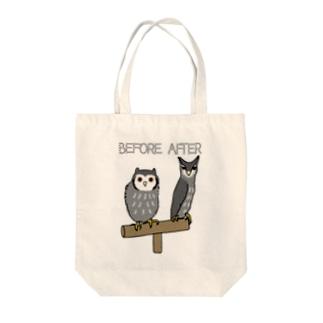 アフリカオオコノハズク Tote bags