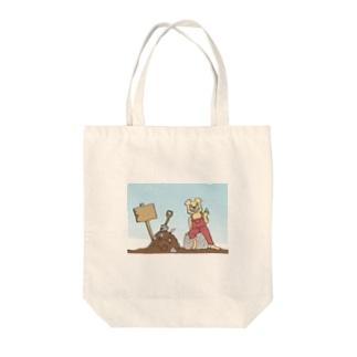 ファンキークマさん Tote bags