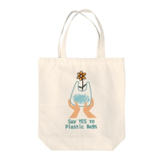 Say YES to Plastic Bagsトートバッグ Tote bags