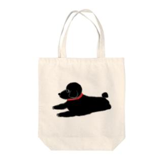 トイプーブラック Tote bags