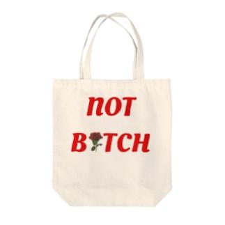 NOTBITCH logo Tote bags
