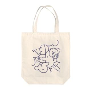 friends(navy line) Tote bags