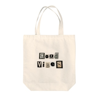 good vibes Tote bags