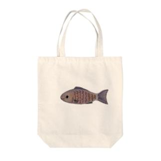*お魚図鑑*〜むらさきのおさかな〜 Tote bags