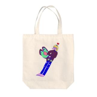 夏なのにパーカー羽織って Tote bags