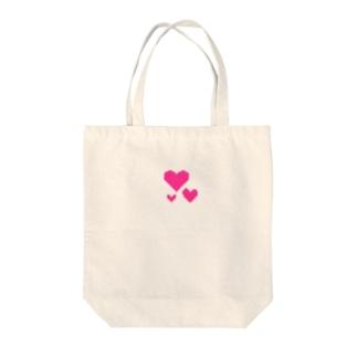 ドットハートの小物 Tote bags