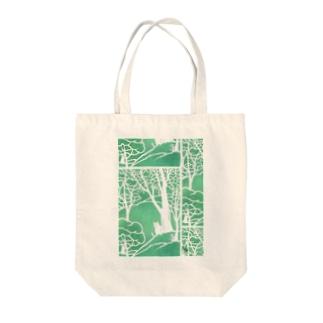ミントの森の猫 Tote bags