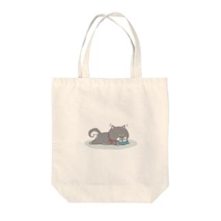 しばいぬトート(水分補給) Tote bags