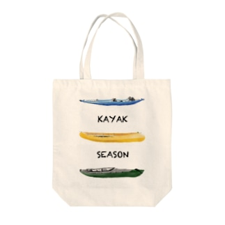 KAYAK SEASON Tote bags