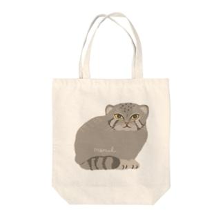 マヌルネコ Tote bags